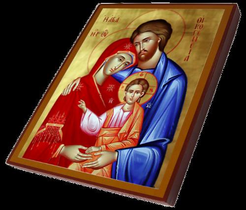 06 święta Rodzina Bizantyjska Replika Ikony Autora Papas Panaiotis